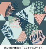 abstract drawing in... | Shutterstock .eps vector #1354419467