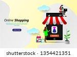 shopping online on website or...