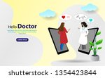 online doctor vector...