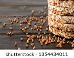 airy  round  crisp buckwheat... | Shutterstock . vector #1354434011