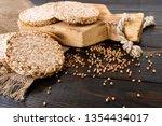 airy  round  crisp buckwheat... | Shutterstock . vector #1354434017