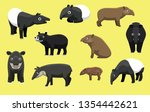 Various Breeds Of Tapir Poses...