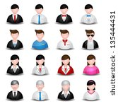 people and user icons color... | Shutterstock .eps vector #135444431