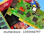 computer inside  circuit board  ... | Shutterstock . vector #1354446797
