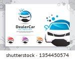 dealer car vector logo with...   Shutterstock .eps vector #1354450574