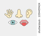 sense organs flat vector icons. ...   Shutterstock .eps vector #1354459424