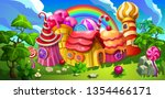 a fairytale candy town.... | Shutterstock .eps vector #1354466171