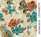 Floral Pattern  Seamless...