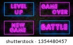 realistic isolated neon sign of ... | Shutterstock .eps vector #1354480457