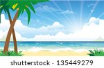 beautiful colorful summer... | Shutterstock .eps vector #135449279