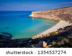 Stock photo view of the most famous sea place of lampedusa it is named spiaggia dei conigli in english 1354537274