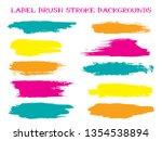 futuristic label brush stroke...   Shutterstock .eps vector #1354538894