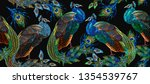 embroidery peacocks seamless... | Shutterstock .eps vector #1354539767
