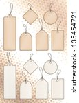 vector price tags in beige. | Shutterstock .eps vector #135454721