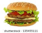 hamburger on white background | Shutterstock . vector #135455111