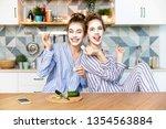 portrait of pretty women in... | Shutterstock . vector #1354563884