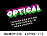 optical illusion style font... | Shutterstock .eps vector #1354564841