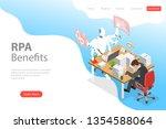 isometric flat landing page... | Shutterstock . vector #1354588064