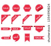 stickers for tags  labels sale... | Shutterstock .eps vector #1354590824