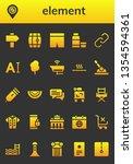 element icon set. 26 filled... | Shutterstock .eps vector #1354594361
