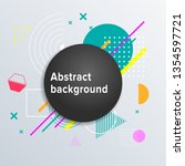 abstract geometric background....   Shutterstock .eps vector #1354597721