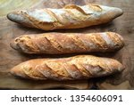 Three Crunchy French Baguettes...