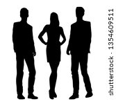 vector silhouettes of  men and... | Shutterstock .eps vector #1354609511