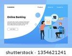 online banking banner and...   Shutterstock .eps vector #1354621241