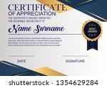creative certificate of... | Shutterstock .eps vector #1354629284