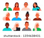 set of avatars of young people... | Shutterstock .eps vector #1354638431
