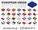 european union   eu   flag and... | Shutterstock .eps vector #1354641371