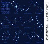 vector set of constellations.... | Shutterstock .eps vector #1354644404