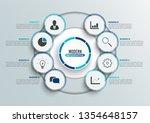 vector infographic template...   Shutterstock .eps vector #1354648157