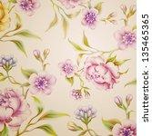 vintage fantasy peony spring... | Shutterstock . vector #135465365