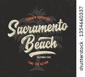 sacramento typography.... | Shutterstock .eps vector #1354660337
