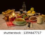 suhoor sahur meal  is an... | Shutterstock . vector #1354667717