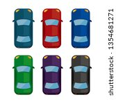 car  view from above  icon set | Shutterstock .eps vector #1354681271