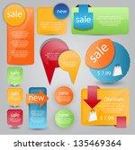 web element set | Shutterstock .eps vector #135469364