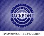 backbone emblem with denim... | Shutterstock .eps vector #1354706084