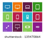 screen devices icons on color... | Shutterstock .eps vector #135470864