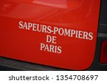 paris  france   march 16  2019  ... | Shutterstock . vector #1354708697