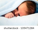beautiful white baby boy with... | Shutterstock . vector #135471284