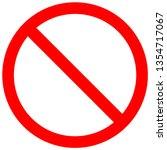 do not sign. do not to do... | Shutterstock .eps vector #1354717067