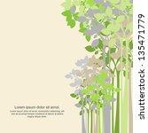 green tree background | Shutterstock .eps vector #135471779