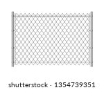 chain link fence. realistic... | Shutterstock .eps vector #1354739351