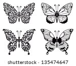 Stock vector vector set of butterflies vector illustration 135474647