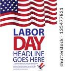 labor day template.. jpg | Shutterstock . vector #135477821