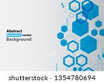 abstract blue  hexagon...   Shutterstock .eps vector #1354780694