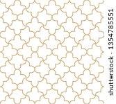 seamless golden oriental... | Shutterstock .eps vector #1354785551