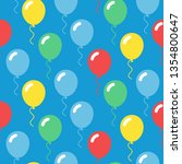 colorful balloons seamless... | Shutterstock .eps vector #1354800647